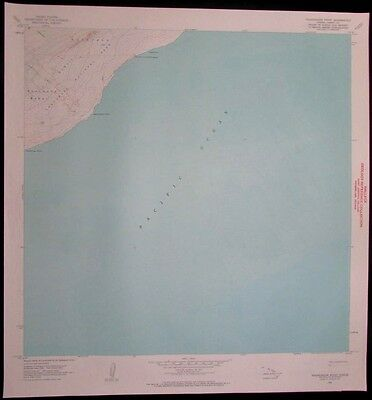 Nalikakani Point Hawaii Volcanoes National Park vintage 1964 old USGS Topo chart