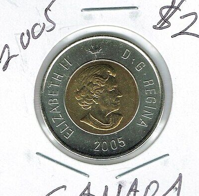 2005 Canadian Brilliant Uncirculated $2 Toonie coin!