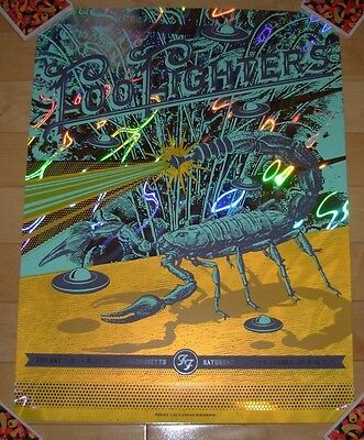 FOO FIGHTERS concert gig poster print BOSTON Fenway 2015 LAVA FOIL helton