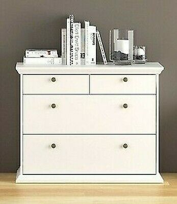 kit chest of drawers dresser Paris wood white 4 drawers cm 96x48x87 h