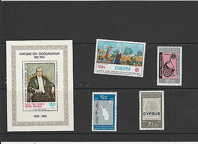 Turkey mint never hinged Postage stamps Los Right 3008