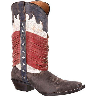 DRD0212 Durango Ladies Dream Catcher Americana Wrapped Fringe Western Boot NEW