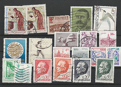 Yugoslavia old canceled Postage stamps Los Right 2726