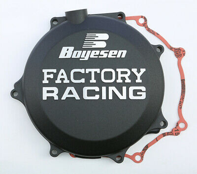 Boyesen Factory Clutch Cover / Black - Kawasaki 06-15 KX450F
