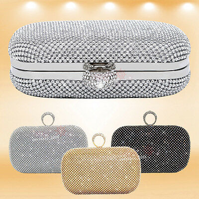 Wedding Women Girls Handbag Clutch Bag Hard Box Evening Bag Bridal Purse Handbag