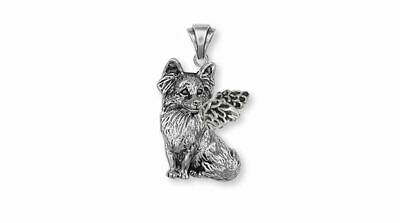 Papillon Angel Pendant Jewelry Sterling Silver Handmade Dog Pendant PA1-AP