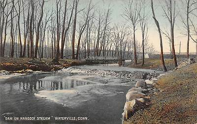 WATERVILLE, CT ~ DAM ON HANCOCK STREAM ~ AUGUST SCHMELZER, PUB ~ c. 1910s