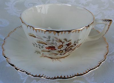 Limoges American Sundale 1K GFE Footed Cup And Saucer Set