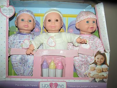 You & Me Play Giggle Triplets Interactive Talking Baby Doll 1 Cursing Bad Word