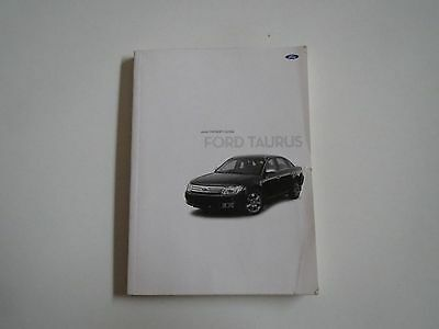 09 2009 ford taurus owners manual 16 95 picclick rh picclick com 2009 ford taurus service manual 2008 ford taurus owners manual
