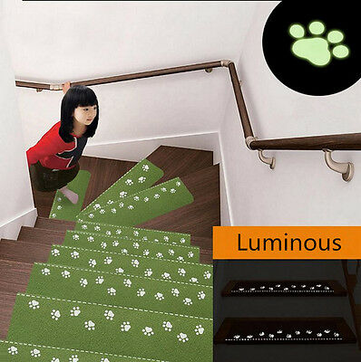 Light In Dark Soft Stair Carpet Pad Rubber Self Adhesive Anti-Skid Treads Mat