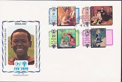 Swaziland Renoir France Year Of Child 1979 Fdc 17454