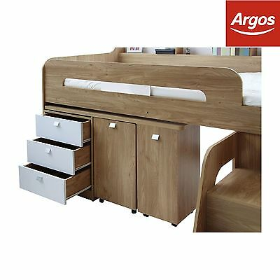 Collection Ultimate Storage Wooden Midsleeper Bed - Wood Effect-Argos on eBay