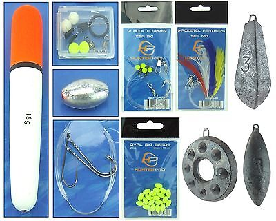 Sea Fishing Tackle Set. Float Set, Mackerel Feathers, Beads sea Rigs & Weights
