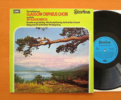 The Glasgow Orpheus Choir Sir Hugh Robertson EMI Stereo Vinyl LP