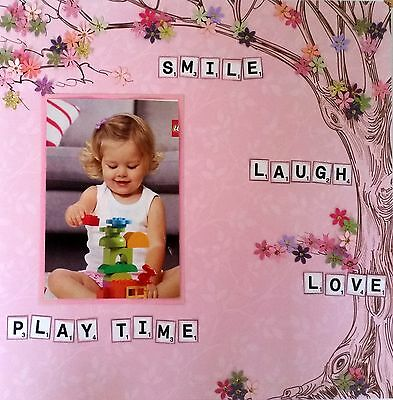 12 x 12 Handmade Scrapbook Page - Play Time