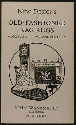 1930s Rag Rug Trade Catalog by Wanamakers in New York City