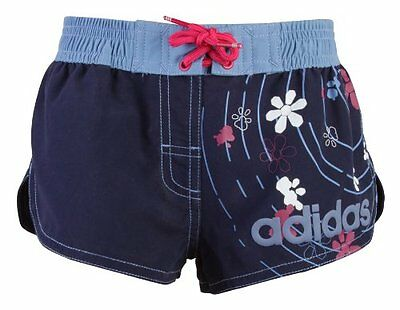 Girls Adidas Navy/Pink/Blue Swimming Shorts age 5,6,8,10  B78