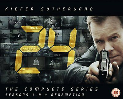 24: The Complete Series - Seasons 1 2 3 4 5 6 7 8 + Redemption Box Set   New DVD