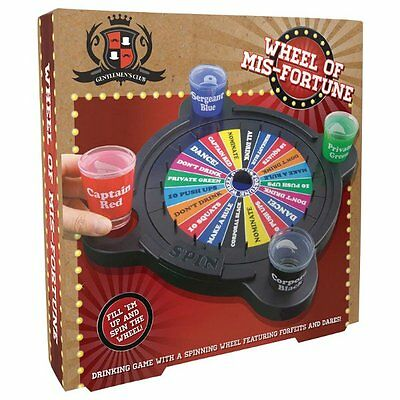 Gentlemens Club WHEEL of MISFORTUNE Spinning Roulette Shot Glasses DRINKING GAME