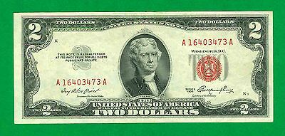$2 1953 1 A/a Block Red Seal United States Note. Circ.