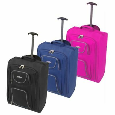 Cabin Approved Ryanair Hand Luggage Travel Holdall Wheeled Trolley Suitcase Bag