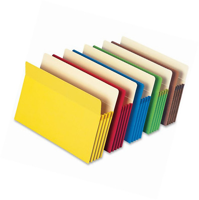 """Smead File Pocket, Straight-Cut Tab, 3-1/2"""" Expansion, Letter Size, Assorted Col"""