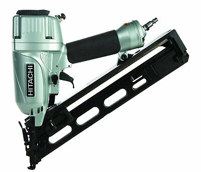 HITACHI NT65MA4 15 Gauge Pneumatic Angled Finish Nailer Nail Gun With Air Duster