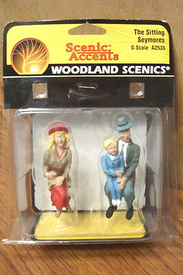 Woodland Scenics The Sitting Seymores G Scale Figures
