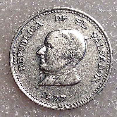 El Salvador 25 Centavos 1977 Nickel