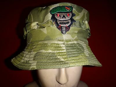 Vietnam War US 5th Special Forces Group Advisor SKULL Camo Tropical Hat