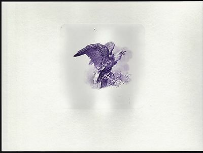 Souvenir Card Engraved Eagle (Purple) From 1861 $50 Interest Bearing Note