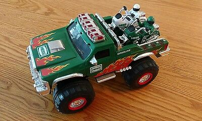 2007, Hess Monster Truck With 2 Motorcycles, Complete, Tested Working