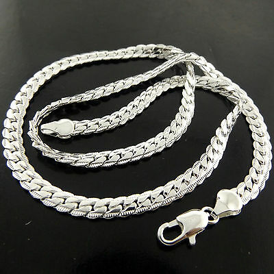 A460 Genuine Real 925 Sterling Silver Sf Solid Ladies Retro Style Necklace Chain