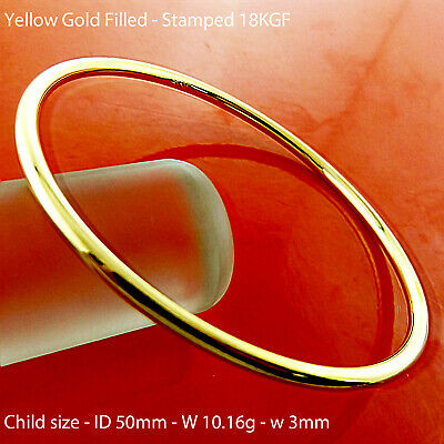 A891 Genuine Real 18K Yellow G/f Gold Ladies Adjustable Cuff Bangle Bracelet