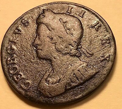 Great Britain - George II - Half Penny - 1737 - KM-566 - FREE SHIPPING