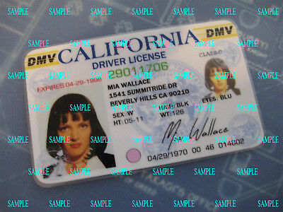 Pulp Fiction - Mia Wallace License - Prop - Cosplay - Novely - B3G1F