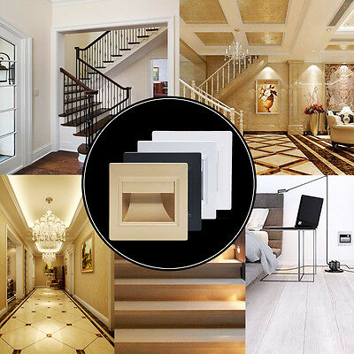 1.5W LED Recessed Light Pathway Path Stair Step Wall Garden Indoor Outdoor Lamp