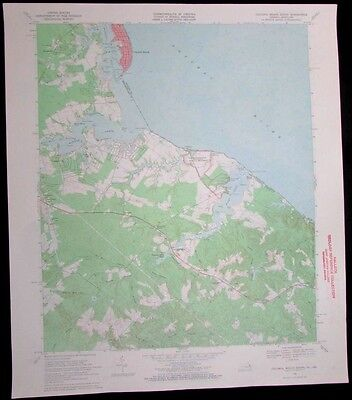 Colonia Beach South Virginia Maryland Potomac River vintage 1971 USGS Topo chart