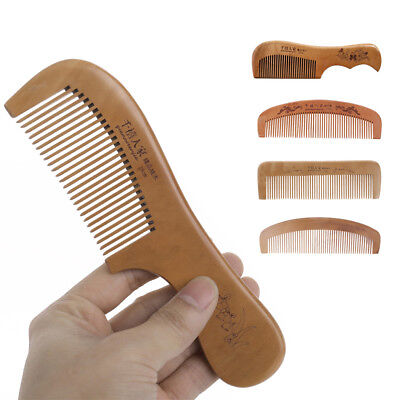 Hair Brush Peach Wood Combs Static Natural Hairbrush Comb Health Care Hot