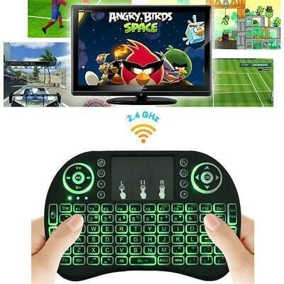3-color Backlight i8 Wireless Keyboard 2.4GHz Keyboard Remote Touchpad