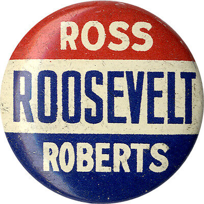 1936 Franklin Roosevelt Pennsylvania Coattails Button (3078)