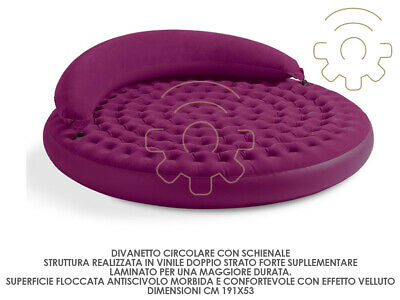 Intex small sofa sofa circular inflatable with backrest pouffe cm 191 for 53