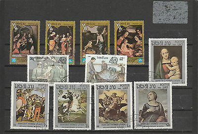 Laos older Postage stamps Los Right 3458