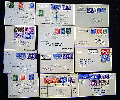Great Britain Lot of 32 KGVI First Day Covers.