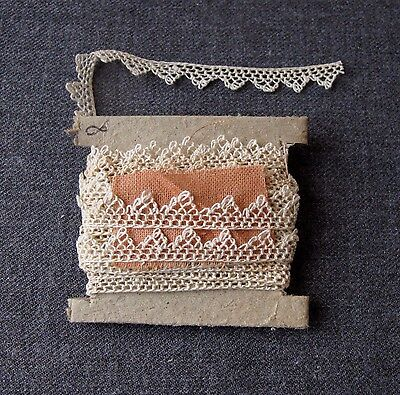 Antique Victorian Lace Trim Edging  3 Yards  Unused  #8