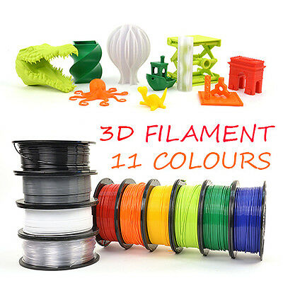 3D Printer Filament 1.75mm ABS PLA 1KG Engineer Drawing Art Aussie Fast Ship NEW