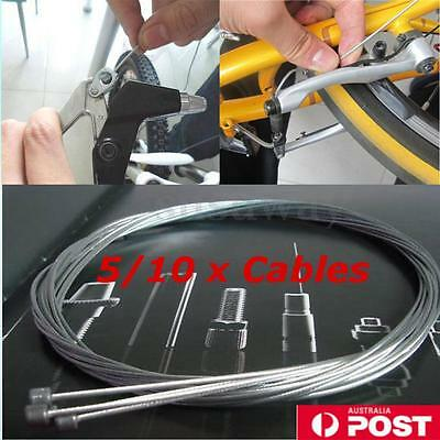 5/10 Pcs Bicycle Bike Shift Shifter Steel Gear Brake Inner Wire Cable 1.2mm AU