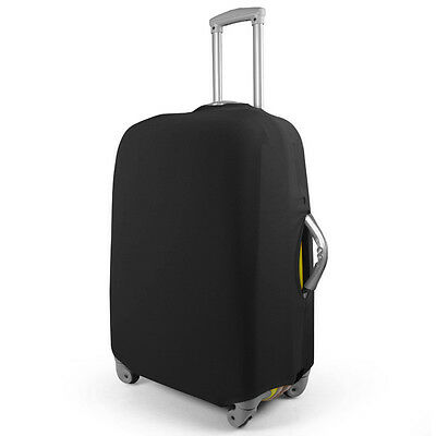 "Black 24"" Travel Trolley Luggage Cover Dust-proof Protector Elastic Suitcase Bag"