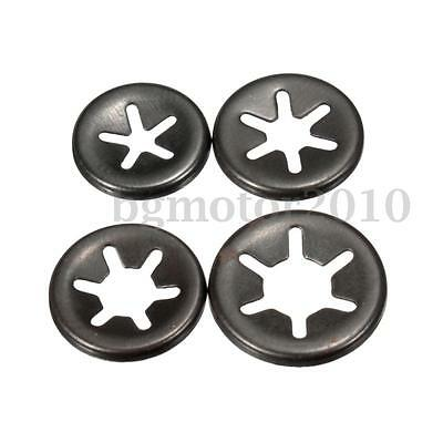 3/4/5/6mm Sprung steel Starlock Push On Fasteners Locking Washers Speed Clips